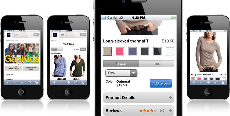 Gap Inc. mobile sites