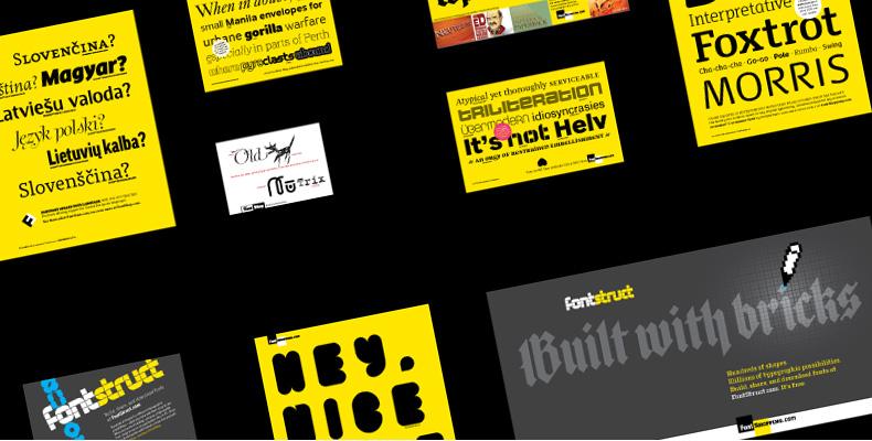FontShop print ads (2008)